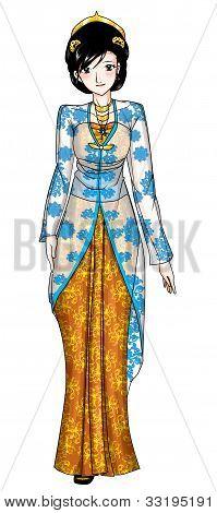 Traditional Javanese Costume