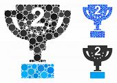 Second Prize Cup Composition Of Filled Circles In Different Sizes And Color Hues, Based On Second Pr poster