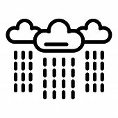 Rainy Clouds Depression Icon. Outline Rainy Clouds Depression Vector Icon For Web Design Isolated On poster