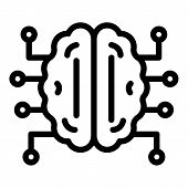 Brain Mental Disease Icon. Outline Brain Mental Disease Vector Icon For Web Design Isolated On White poster