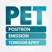 Pet - Positron Emission Tomography Acronym, Medical Concept Background poster