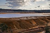 image of taint  - Dam copper mine waste in Riotinto Spain - JPG