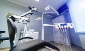 Dentist Appointment, Dentistry Instrument And Dental Hygienist Checkup Concept With Mouth Mirrors, P poster