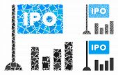 Ipo Bar Chart Mosaic Of Trembly Parts In Different Sizes And Color Tones, Based On Ipo Bar Chart Ico poster