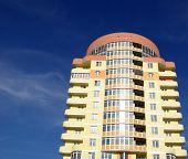 image of vinnitsa  - A modern apartments building viewed from an vinnitsa  - JPG