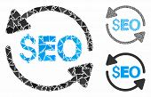 Update Seo Mosaic Of Joggly Parts In Various Sizes And Shades, Based On Update Seo Icon. Vector Jogg poster