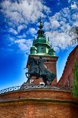 Beautiful Historic Historical Polish City Of Krakow On A Beautiful Sunny Summer Holiday Day poster