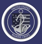 United States Marine Corps Happy Birthday 1775. National Military Event Is Organised In 10th Novembe poster