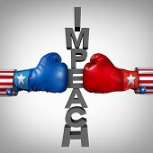 Impeach Fight As Republican And Democrat Politicians Fighting An Impeachment Political Disagreement  poster