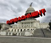 Impeachment Proceedings In The United States Capital Hill Congress And Government Vote  To Impeach T poster