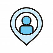 Located Icon Trendy And Modern Located Symbol For Logo, Web, App, Ui. Located Icon Simple Sign. Loca poster