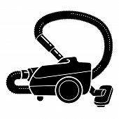 Floor Vacuum Cleaner Icon. Simple Illustration Of Floor Vacuum Cleaner Vector Icon For Web Design Is poster