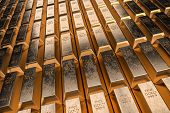 Gold Bars Or Ingot - Financial Success And Investment Concept. 3d Rendered Illustration. poster