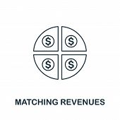 Matching Revenues Icon Outline Style. Thin Line Creative Matching Revenues Icon For Logo, Graphic De poster