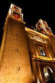picture of conquistadors  - Iglesia de Plaza Mayor in Valladolid Mexico Yucatan - JPG