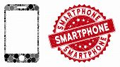 Mosaic Smartphone And Rubber Stamp Watermark With Smartphone Text. Mosaic Vector Is Designed With Sm poster