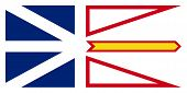 Flag Of Newfoundland And Labrador Is The Most Easterly Province Of Canada. Vector Illustration poster