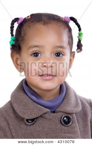 Portrait Of Adorable African Baby