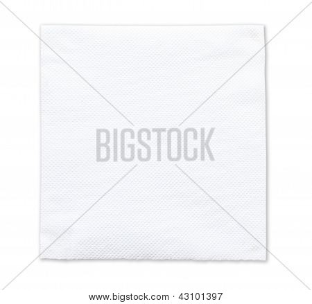 White Tissue Paper On White Background