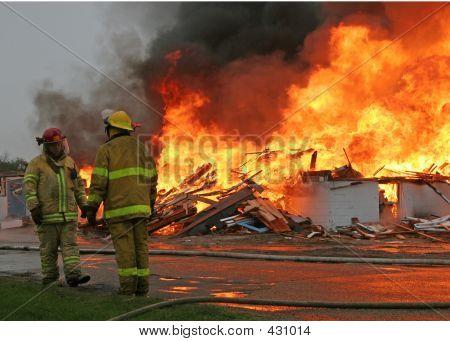 Firemen Talking