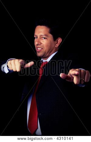 Businessman Pointing To You