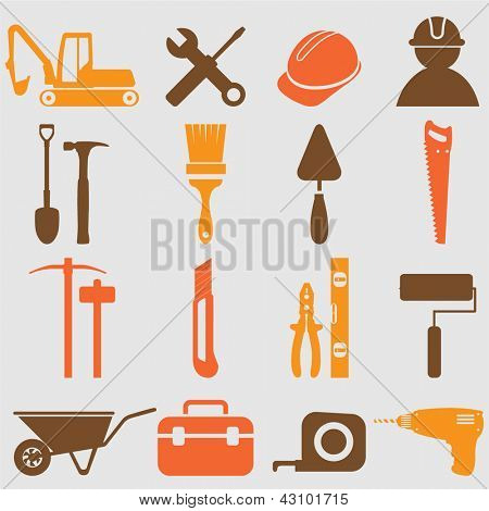Worker tools icons .Vector