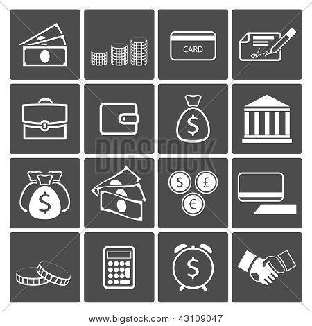 Money icons set
