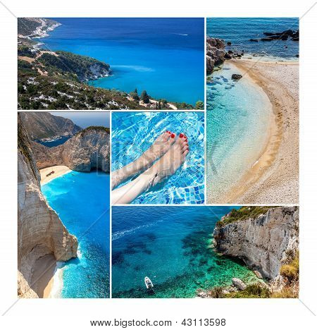 Amazing Zakynthos Island Collage, Greece