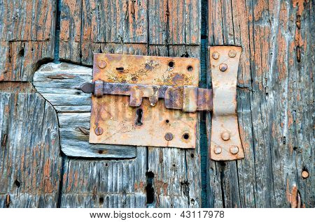 Wood Texture With Lock