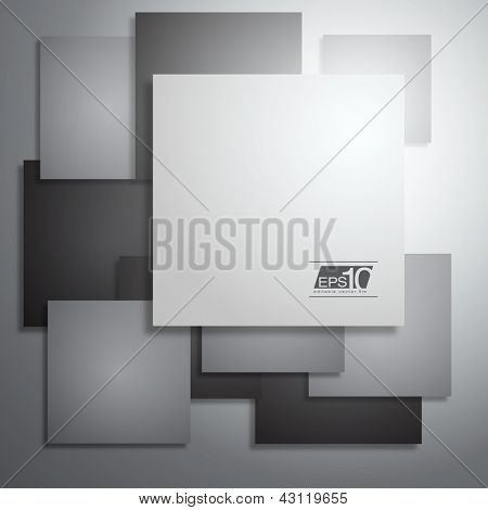 Abstract Business Squares Vector Layout | EPS10 Design