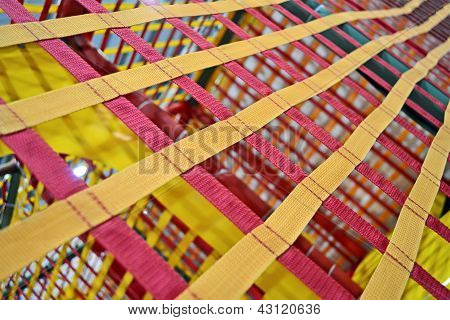 Abstract Textiled Belts, Industrial Grid