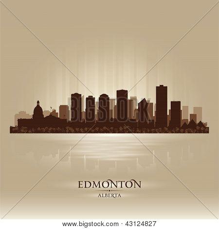 Edmonton Alberta Skyline City Silhouette