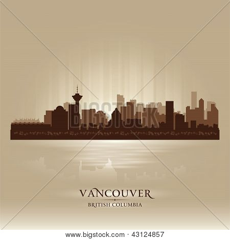Vancouver British Columbia Skyline City Silhouette