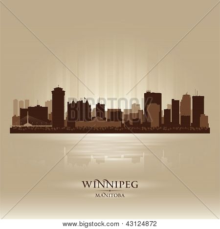 Winnipeg Manitoba Skyline City Silhouette