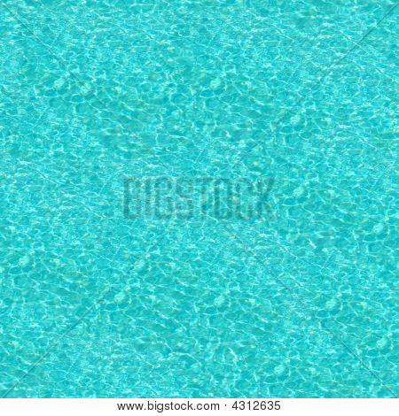 Crystal Blue Swimming Pool Water Seamless Pattern