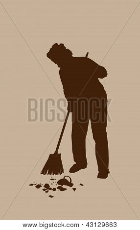 Silhouette Janitor