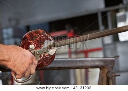 Cutting Glass Object From Iron