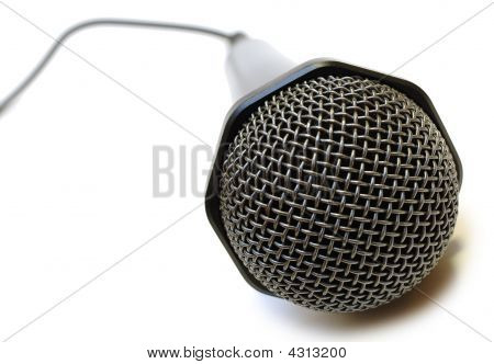Black Wired Karaoke Microphone.
