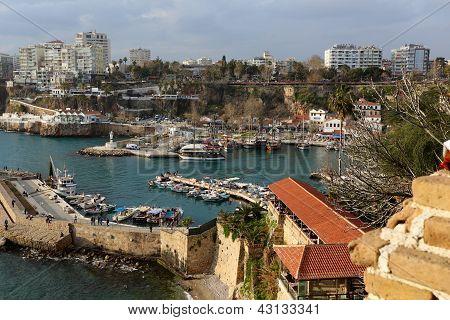 Harbors Old Antalya.