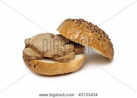 Hamburger With Wood