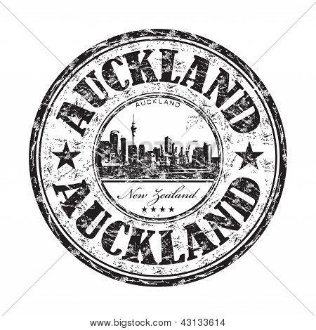 Sello de goma de grunge de Auckland