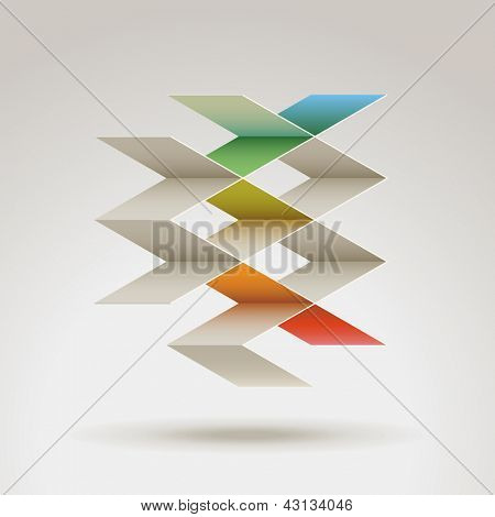 Abstract geometric shape, eps10 vector