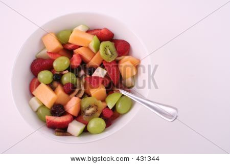 Fruit Salad Bowl And Spoon