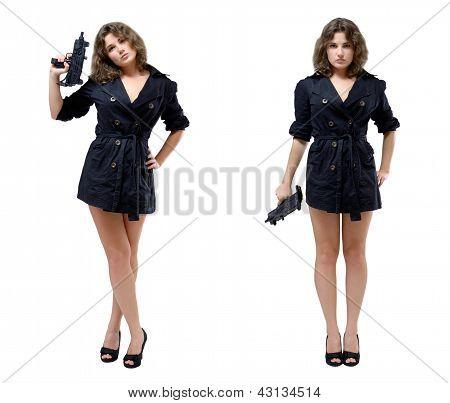 Women With A Submachine Gun