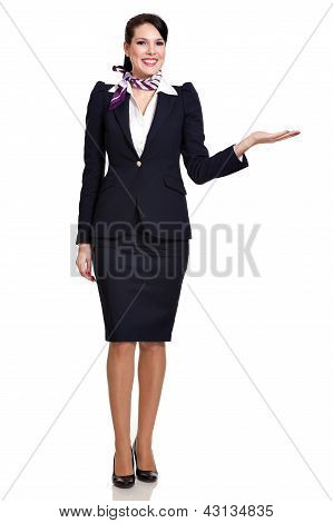 Fullbody Of A Young Beautiful Business Woman