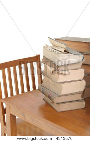 Old Law Books On Table