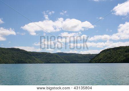 Lake of Vouglans, France
