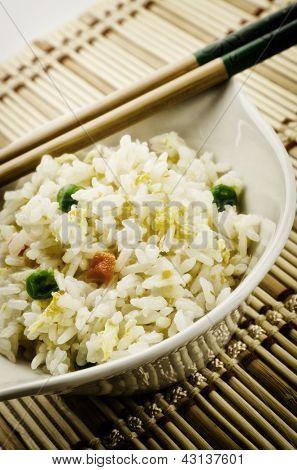 Yangzhou rice, traditional chinese recipe, cantonese food