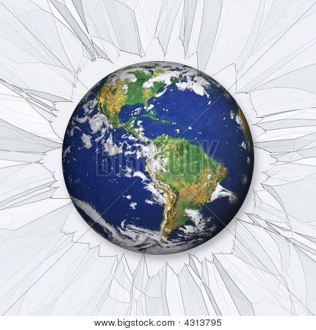 die Erde stürzt ab