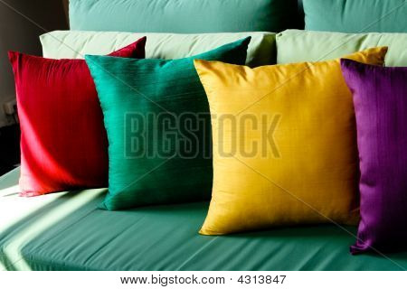Colorful Silk Cushions